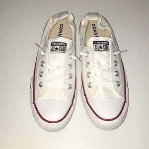White Shoreline Slip Converse - Women's size 9 US